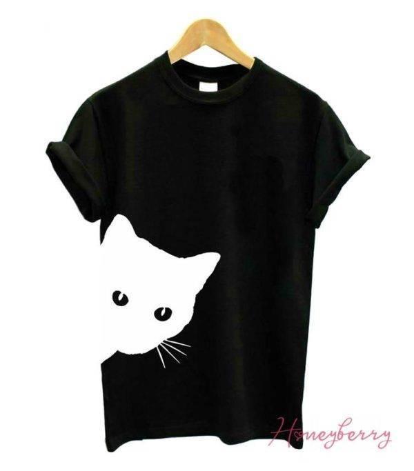 Cat Lover Printed T-Shirt TOPS shop