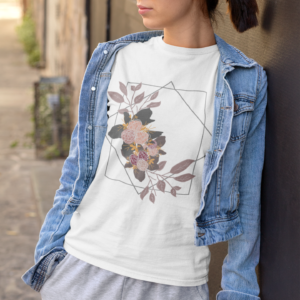 Geometric Floral Unisex Jersey Short Sleeve Tee shop Tees TOPS