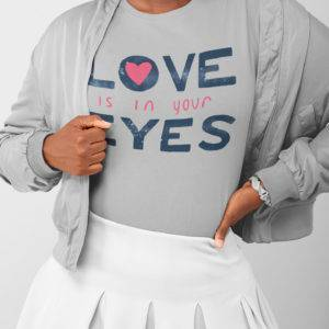 Love is in Your Eyes Short Sleeve Tee shop Tees TOPS