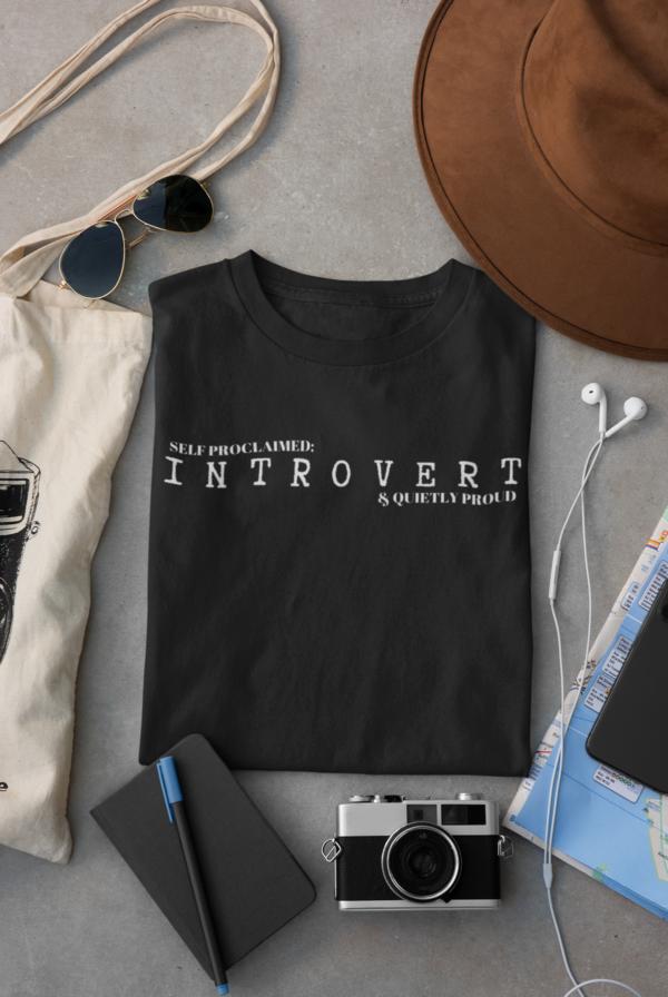 Introvert Unisex Short Sleeve Tee shop Tees TOPS