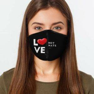 Love Not Hate Face Cover shop